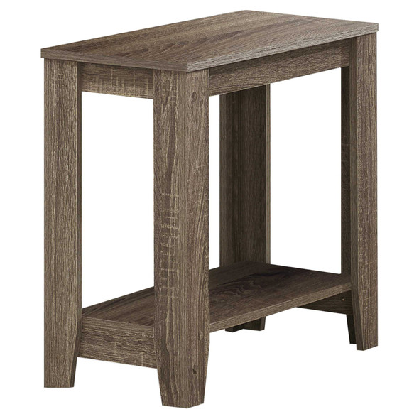 """11.75"""" x 23.75"""" x 22"""" Dark Taupe, Particle Board, Laminate - Accent Table"""