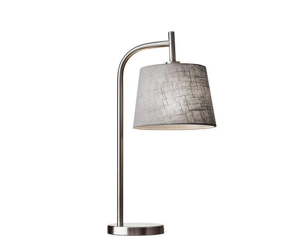 "10"" X 12"" X 25"" Brushed Steel Metal Table Lamp - 372662"