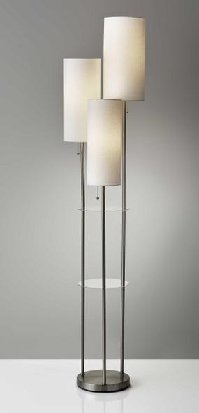 "14"" X 14"" X 68"" Brushed steel Shade Floor Lamp"