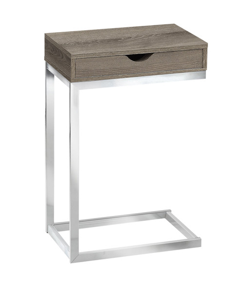 "10.25"" x 15.75"" x 24.5"" Dark Taupe, Particle Board, Metal - Accent Table"
