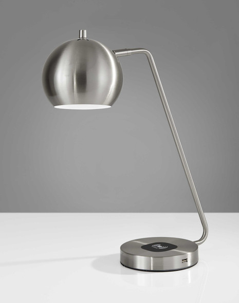"""6.5"""" X 16.5"""" X 18"""" to 20.5"""" Brushed Steel Metal Charge"""