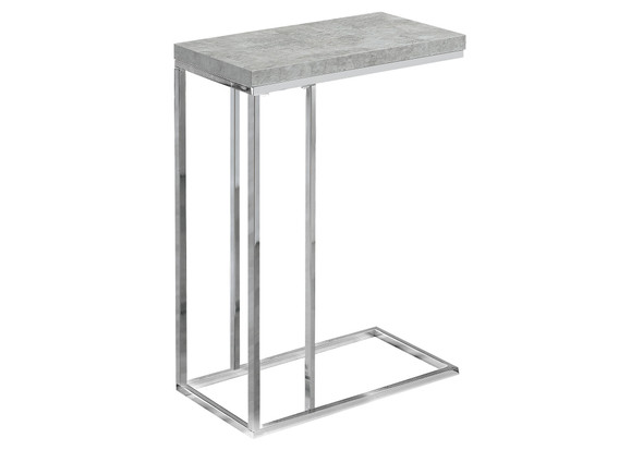 """18.25"""" x 10.25"""" x 25.25"""" Grey, Particle Board, Metal - Accent Table - 333169"""