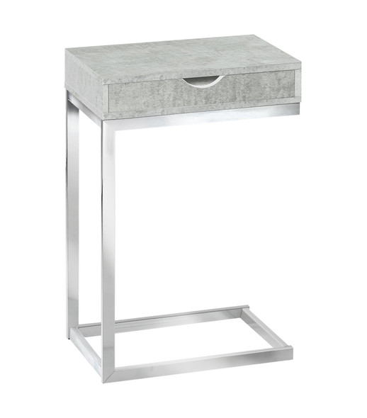 "10.25"" x 15.75"" x 24.5"" Grey, Particle Board, Laminate, Metal - Accent Table"