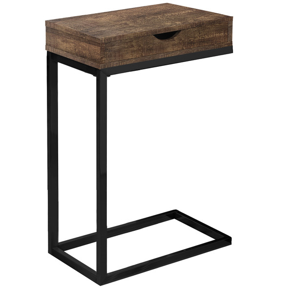"10.25"" x 15.75"" x 24.5"" Brown, Black, Particle Board, Drawer - Accent Table"