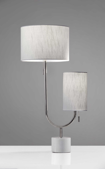 "10"" X 13.5"" X 26"" Chrome Metal Table Lamp"