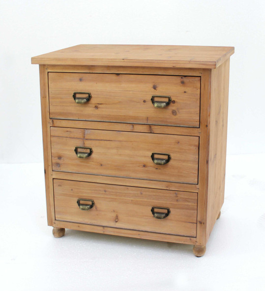 """15"""" x 30"""" x 30"""" Natural, 3 Drawer, Minimalist Loft, Wood - Filing Cabinet"""