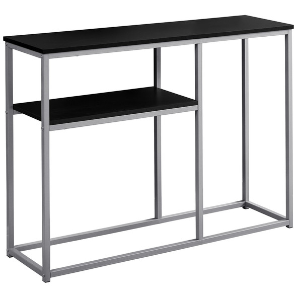 "12"" x 42"" x 32"" Silver Metal- Accent Table"