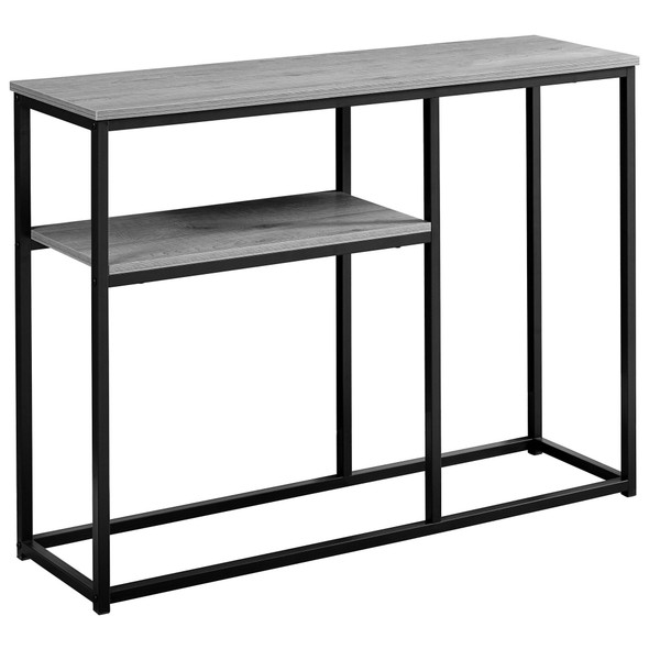 "12"" x 42"" x 32"" Black Metal- Accent Table"