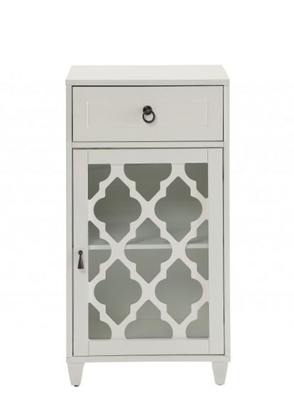 "17"" X 11.8"" X 32.5"" White Floor Cabinet"