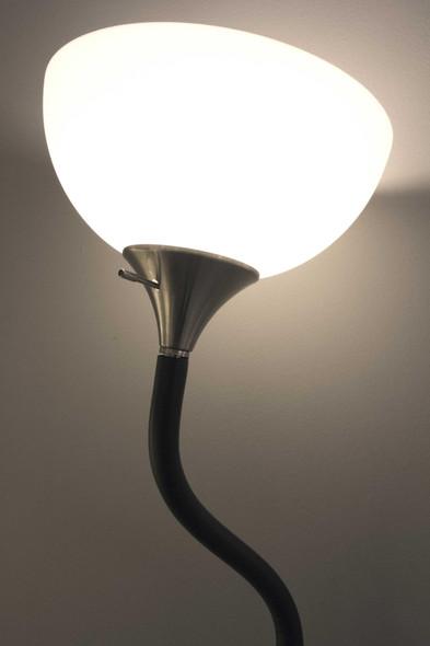 """11"""" X 25"""" X 71"""" Black Metal Floor Lamp"""