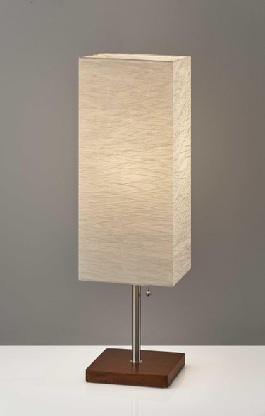 "8"" X 8"" X 26"" Walnut Shade Table Lamp"