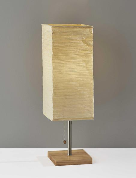 """8"""" """" X 8"""" X 25"""" Natural Shade Table Lamp"""