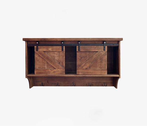"""11"""" x 40"""" x 20"""" Brown, Wood, Wall storage/Wall Shelf"""