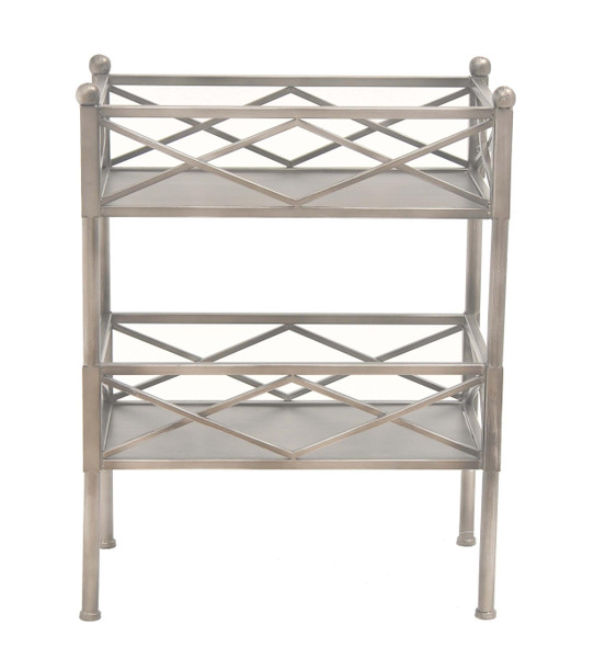 "14.5"" x 24.5"" x 31.5"" Silver, Metal, Metal Bookcase/Storage Shelf"