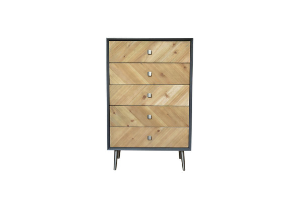 "16.75"" x 25.5"" x 41"" Gray, Wood, Cabinet"