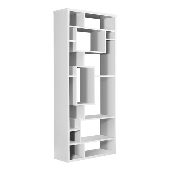 "11.75"" x 31.5"" x 72"" White, Particle Board, Hollow-Core - Bookcase"