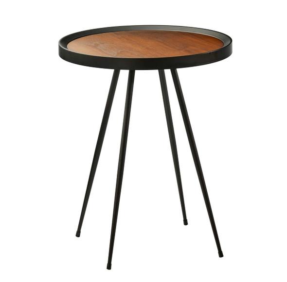 "17.5"" X 17.5"" X 22"" Walnut End Table"