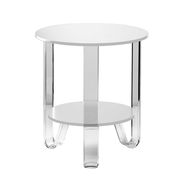 "18.5"" X 18.5"" X 21.5"" White Accent Table"