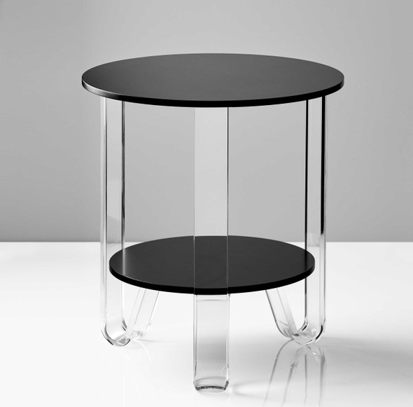 """18.5"""" X 18.5"""" X 21.5"""" Black Accent Table"""