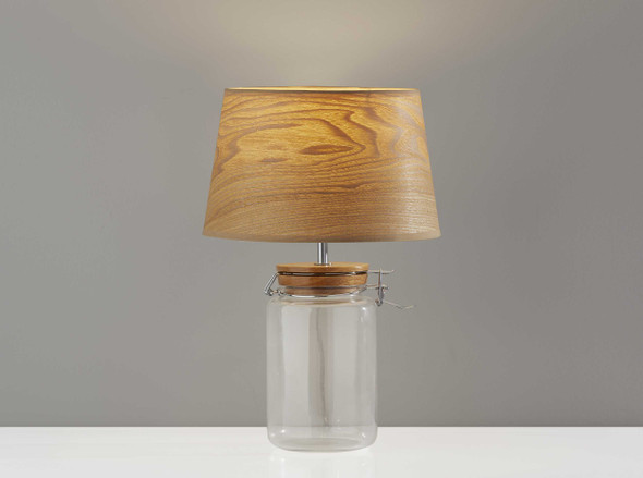 "10.5"" X 10.5"" X 15.5"" Natural Jar Table Lamp"