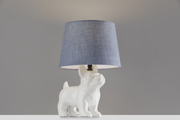 "10"" X 10"" X 15"" White Table Lamp"