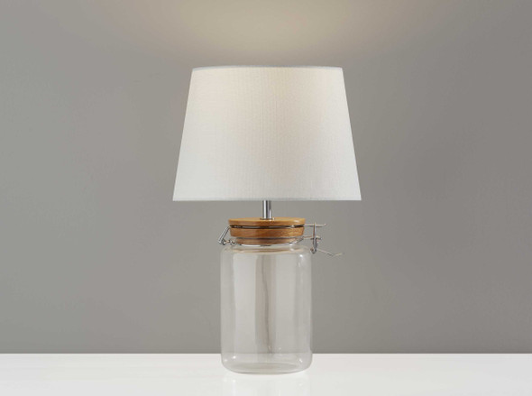 "10"" X 10"" X 16"" Clear Jar Table Lamp"