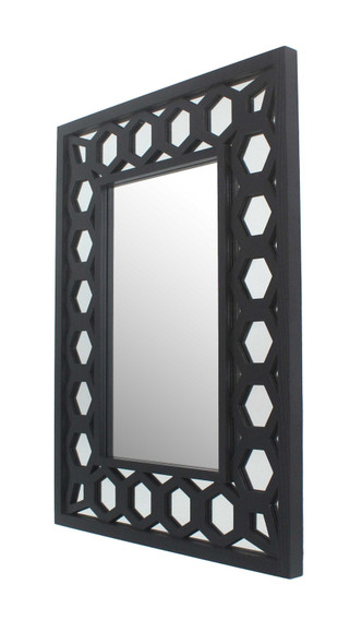 "40"" x 30"" x 2"" Black, Vintage, Dressing - Mirror"