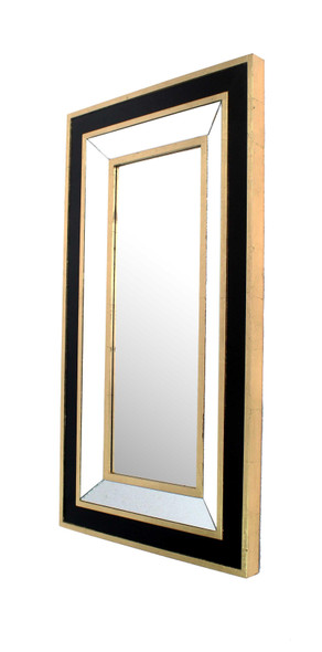 "43"" x 24"" x 2"" Black amp; Gold, Classic Dressing - Mirror"