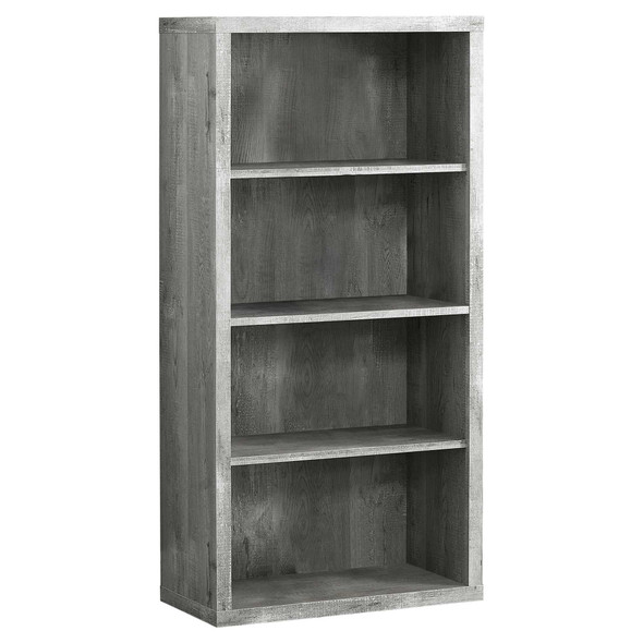 "11.75"" x 23.75"" x 47.5"" Grey, Particle Board, Adjustable Shelves - Bookshelf"