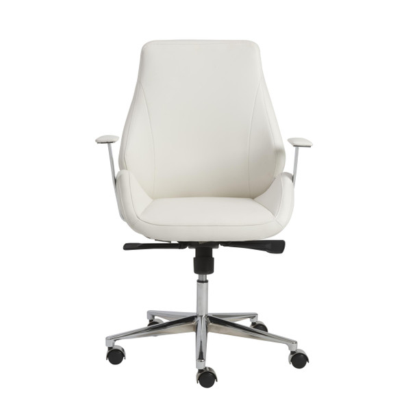 """26.75"""" X 26"""" X 40.75"""" Low Back Office Chair in White with Chromed Steel Base"""