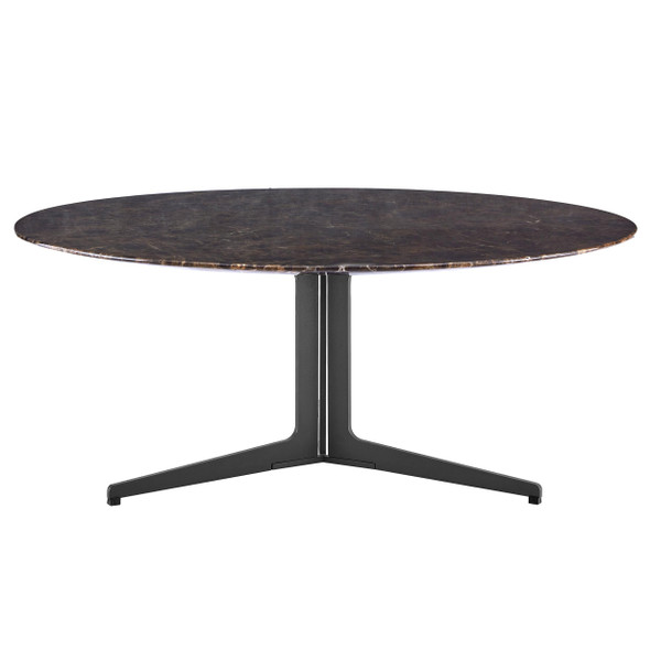 "35.04"" X 35.04"" X 15.16"" Round Coffee Table Base in Matte Dark Gray"