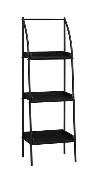"""12"""" x 16"""" x 48"""" Black, Mdf, Metal - Bookshelf"""