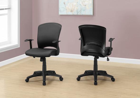 "23.75"" x 24.5"" x 74.75"" Black, Foam, Metal, Nylon - Office Chair"