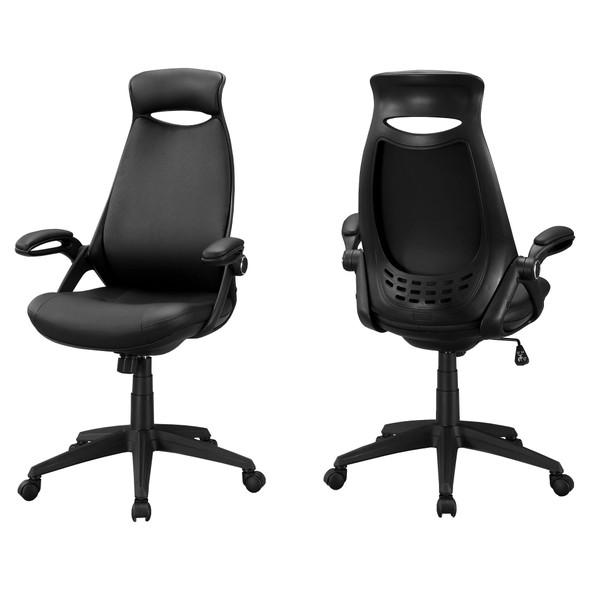 "23.75"" x 28"" x 93.75"" Black, Foam, Metal, Nylon - Multi Position Office Chair"