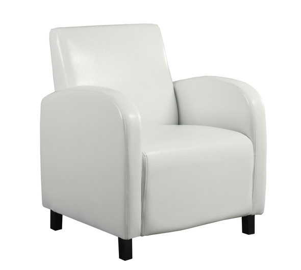 """29"""" x 27.5"""" x 32.5"""" White, Foam, Solid Wood, Leather-Look - Accent Chair"""
