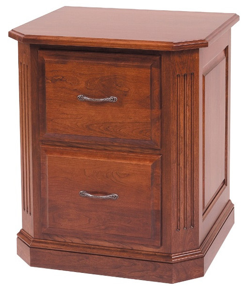 """23.25"""" x 27"""" x 30.5"""" Wooden Acres Stain 2 Drawer File"""