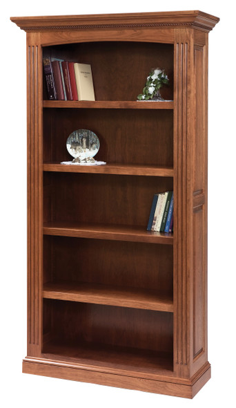"""42"""" x 14.75"""" x 77.5"""" Wooden Acres Stain Bookcase"""