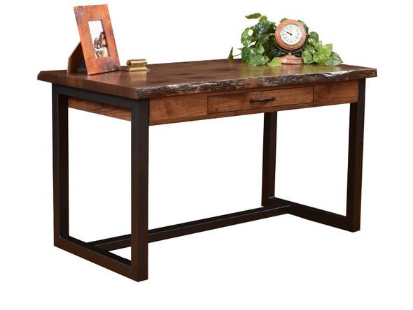 "54"" x 28"" x 30.5"" Wooden Black Walnut Writers Desk"
