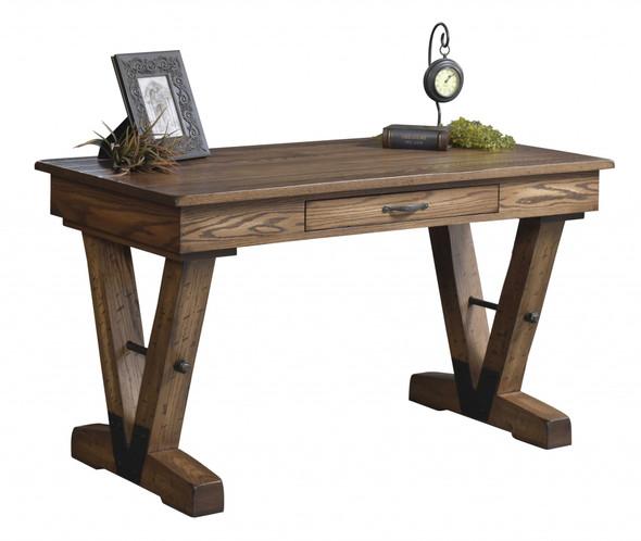 "54"" x 28"" x 30.5"" Wooden Rock Tavern Stain Writers Desk"