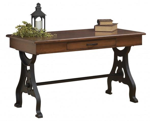 """54"""" x 28"""" x 30.5"""" Wooden Cappucino Writers Desk"""