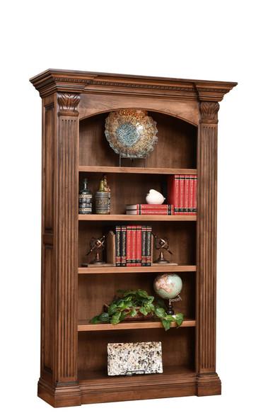 "53"" x 18.75"" x 85"" Wooden Rock Tavern Stain Bookcase"