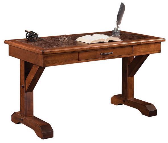 """54"""" x 28"""" x 30.5"""" Wooden Dutch Tavern Stain Writers Desk"""
