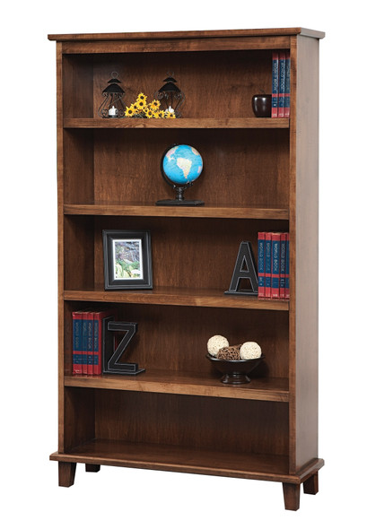 """42"""" x 13"""" x 72.5"""" Wooden Coffee Bookcase"""