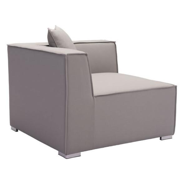 "34.6"" X 34.6"" X 25.4"" Gray Sunproof Corner Chair"