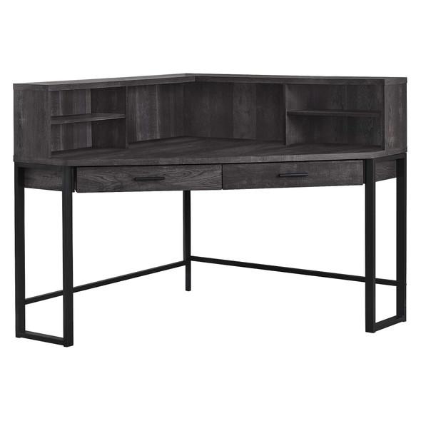 "47.5"" x 47.5"" x 42"" Black, Particle Board, Hollow-Core, Metal - Computer Desk"
