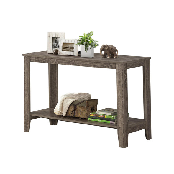 """18"""" x 44"""" x 28"""" Dark Taupe, Particle Board, Laminate - Accent Table"""