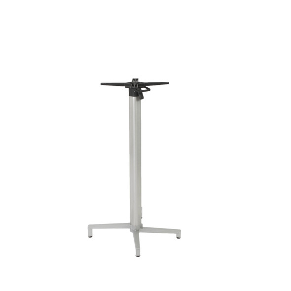 "19.3"" X 21.26"" X 42.92"" Silver Aluminum Folding Bar Table Base"