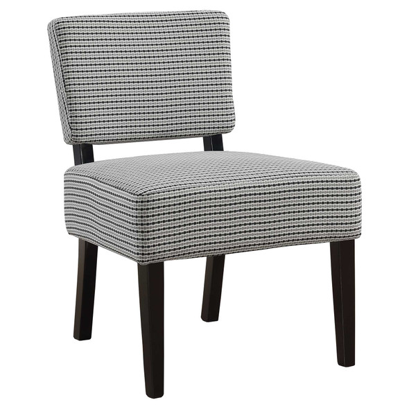 """27.5"""" x 22.75"""" x 31.5"""" Light Grey, Black, Foam, Solid Wood, Polyester - Accent Chair"""