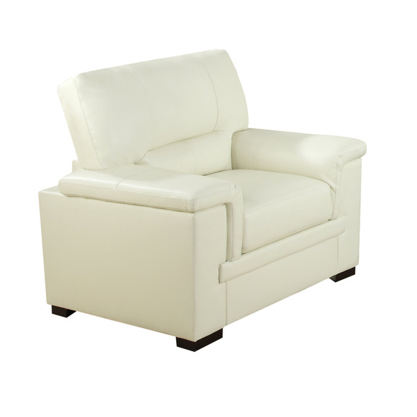 """35"""" x 47"""" x 39"""" Ivory, - Leather Chair"""