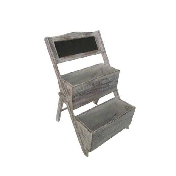 """1"""" x 10"""" x 9"""" Gray, Wood Shelf"""